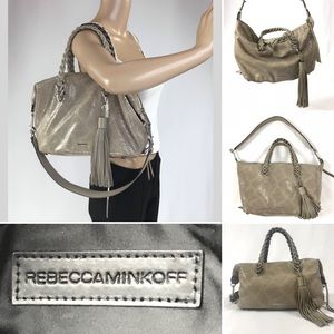 *AUTH* REBECCA MINKOFF Snake embossed leather bag